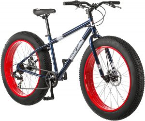 Mongoose Dolomite Men's Fat Tire Mountain Bike, 26-Inch Wheels, 4-Inch Wide Knobby Tires, 7-Speed, Steel Frame, Front and Rear Brakes, Multiple Colors